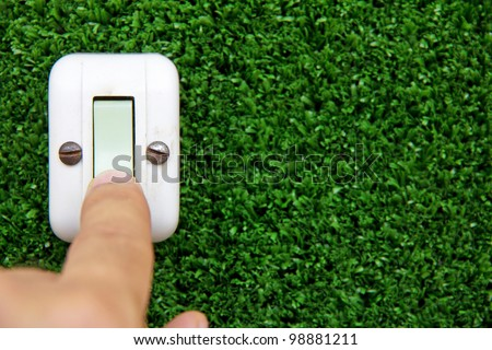 turn off the light ,save energy concept - stock photo