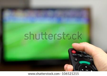 Turn off TV - stock photo