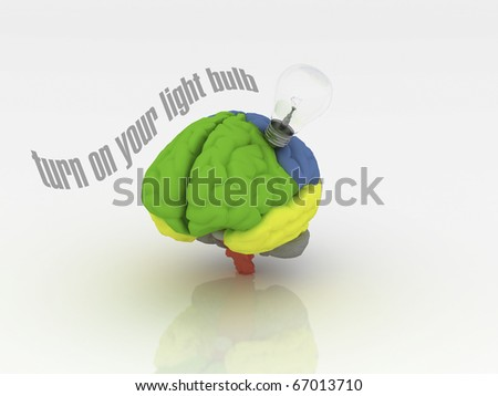 Turn on your light bulb - stock photo
