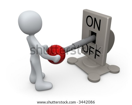 Turned Off - stock photo