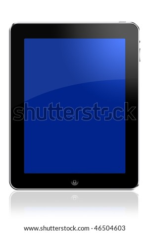 Turned on touchpad computer - stock photo