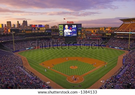 Turner Field, home of the Braves - stock photo