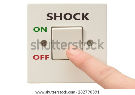Turning off Shock with finger on electrical switch