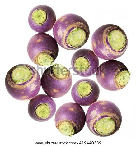 Turnips on White Background - stock photo