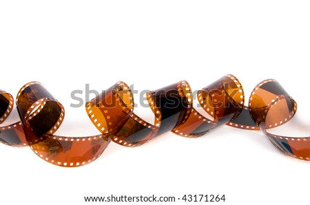 Turns film. Isolated on white background.