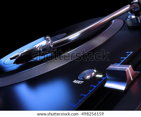 Turntable Abstract Background. 3D illustration
