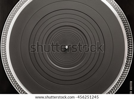 turntable platter, top view