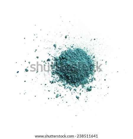 Turqoise Eyeshadow - stock photo