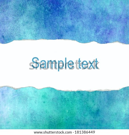 Turquoise abstract background with blank space for text - stock photo