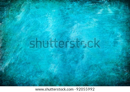 Turquoise abstract grunge texture background for multiple uses - stock photo