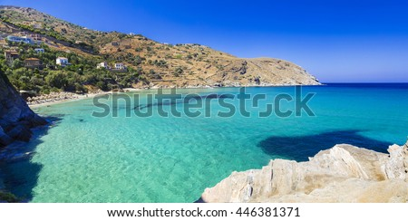 Turquoise beautiful beaches of Greece - Andros island, Cyclades