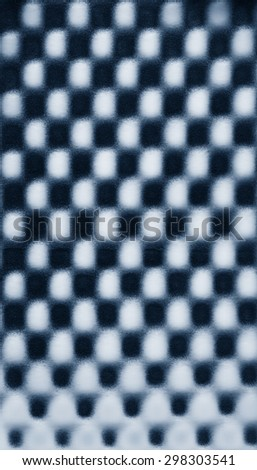 Turquoise blue green abstract pattern foam chess texture background pattern - stock photo