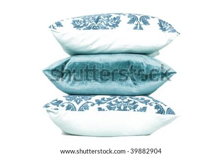 Turquoise cushions - stock photo