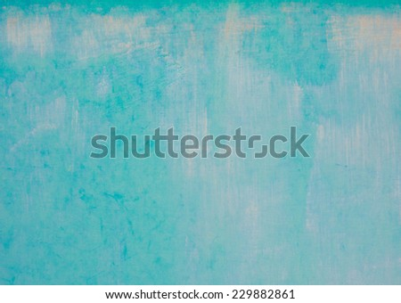 Turquoise cyan aqua paint background - stock photo