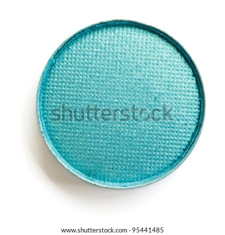 Turquoise eyeshadow - stock photo