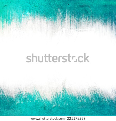 Turquoise grunge texture or background with space for text or image - stock photo