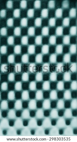 Turquoise mint green abstract pattern foam chess texture background pattern - stock photo