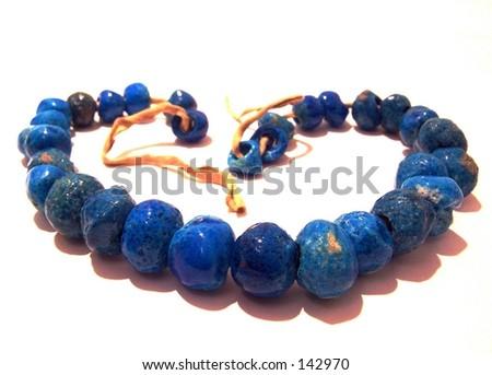 turquoise necklace - stock photo