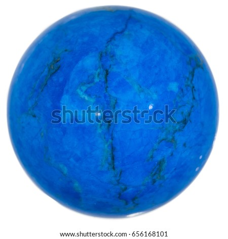Turquoise polished crystal sphere