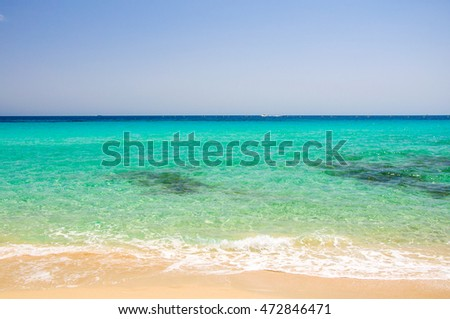 turquoise sea on Formentera beach