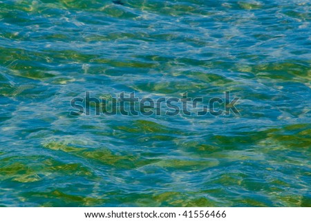 turquoise sea water pattern - stock photo