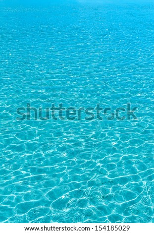 Turquoise sea water surface seamless background texture - stock photo
