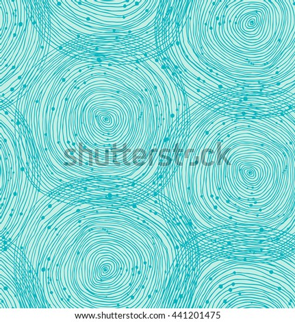 Turquoise spiral pattern - stock photo