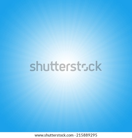 Turquoise starburst effect - stock photo