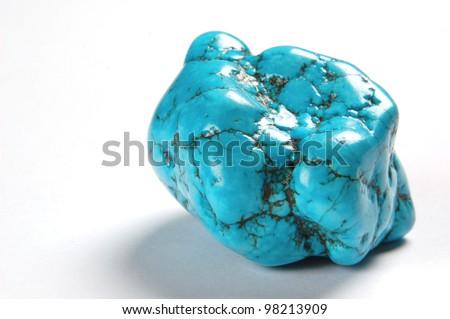 turquoise  stone - stock photo