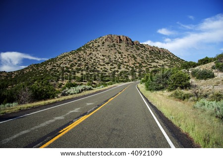 Turquoise Trail, New Mexico - stock photo
