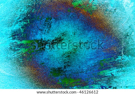Turquoise wall texture can be used as background. - stock photo