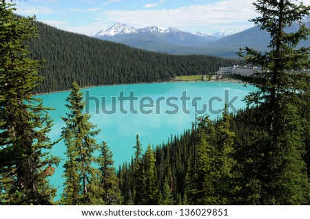 Turquoise Waters of Lake Louise, Alberta, Canada