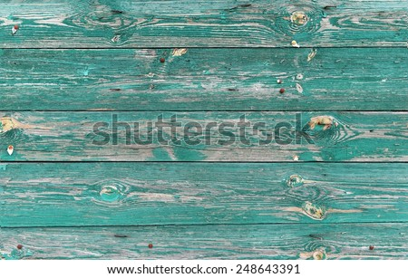 Turquoise wooden background - stock photo