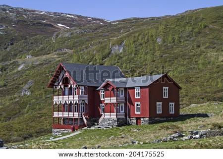 Turtagro  a mountaineer hotel in the Jotunheimen mountains was built in the 19th century