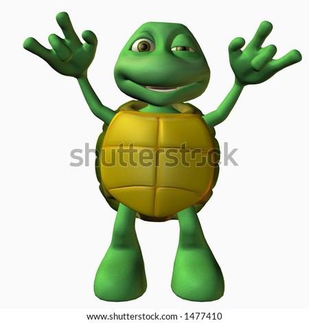 Turtle Boy -Rock On - stock photo