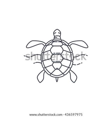 turtle icon vector character stock vector 430104091 shutterstock