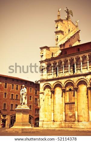 tuscan church - stock photo