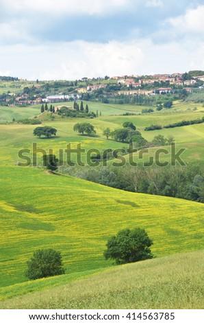 Tuscan landscape, Italy - stock photo