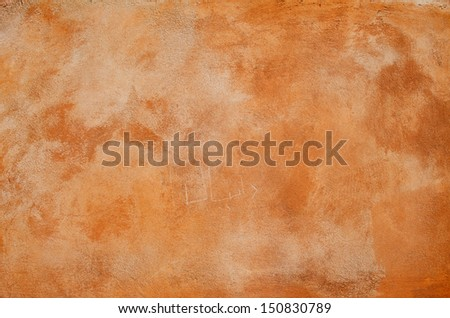 Tuscan wall red textured background. - stock photo