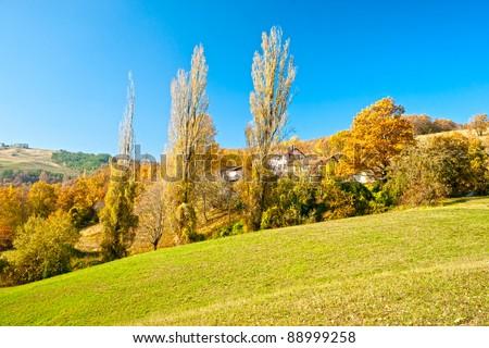 Tuscany landscape, Chianti area, Italy. - stock photo