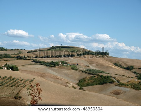 Tuscany, landscape in San Gimignano surroundings - feast for the eyes