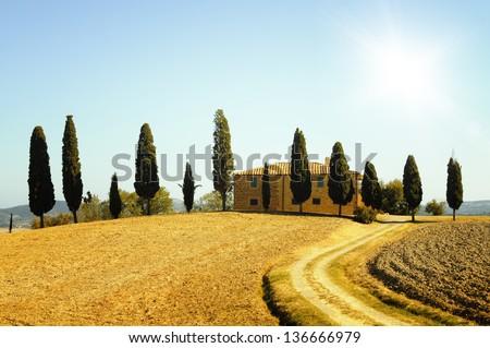 Tuscany landscape, Italy. - stock photo