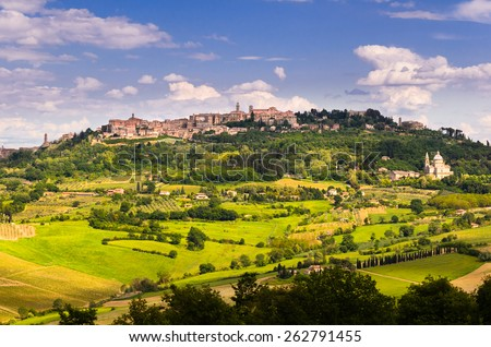 Tuscany landscape, Toscana, Italy - stock photo