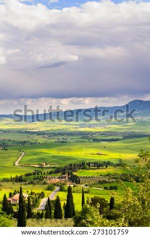 Tuscany landscape, Toscana, Italy - stock photo