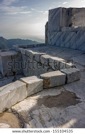 Tuscany Mountains and Marble Quarry