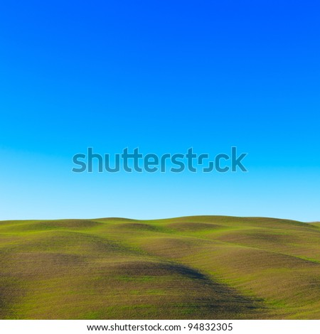 Tuscany: typical landscape. Rolling hills in Val d'Orcia, near Siena.
