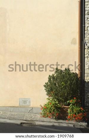 Tuscany Wall Texture Background 03 - stock photo