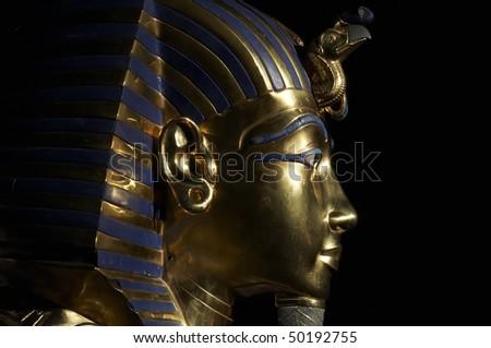 Tutankhamen's golden mask - stock photo
