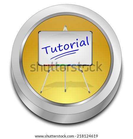 Tutorial Button - stock photo