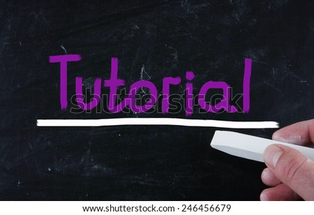 tutorial concept - stock photo